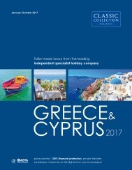 Greece & Cyprus 2017 brochure