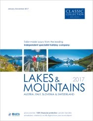 Lakes & Mountains 2017 brochure