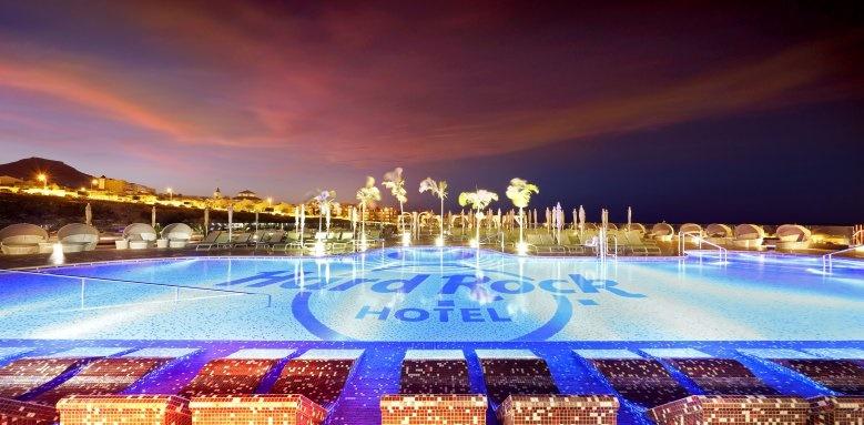 Hard Rock Hotel Tenerife, Pool Night