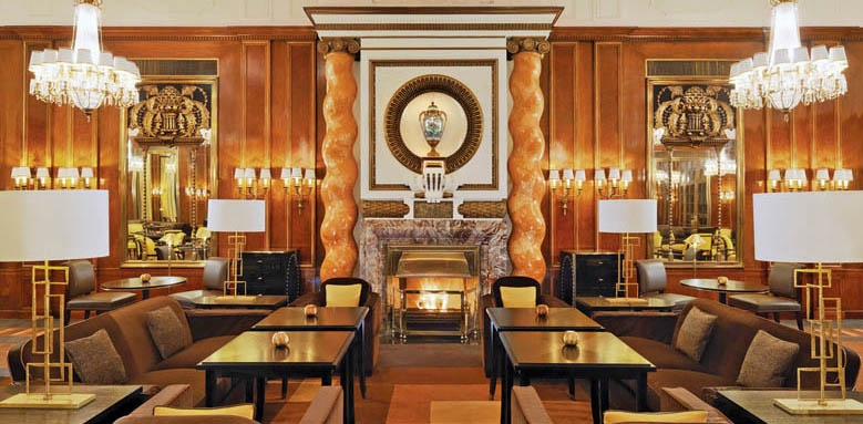 Hotel Bristol, a Luxury Collection Hotel, lounge fireplace