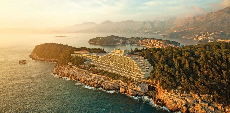 Hotel Croatia, aerial view