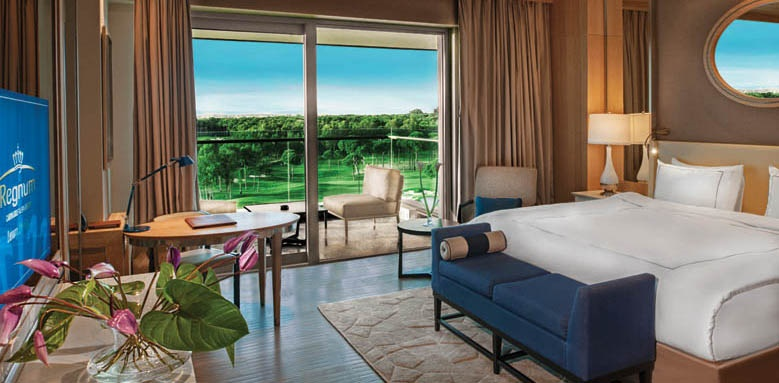 Regnum Carya Golf & Spa Resort, luxury room golf view
