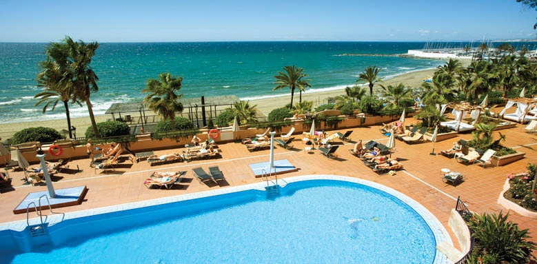 hotel fuerte marbella pool and sea view