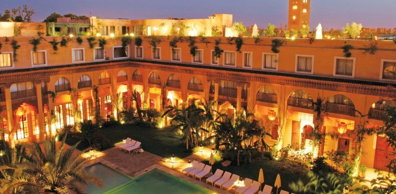 Les Jardins De La Koutoubia, pool and exterior night