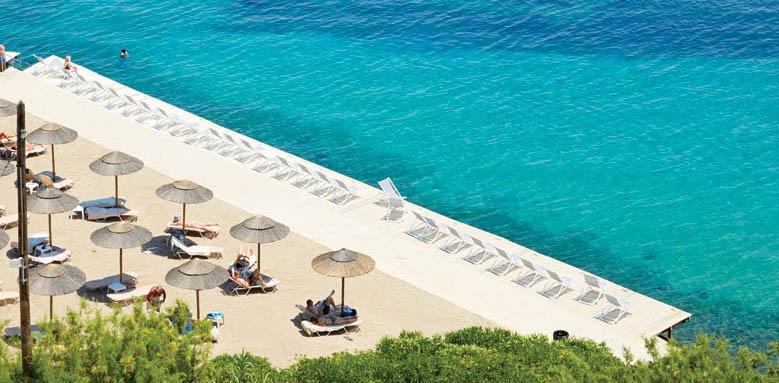 Marbella Beach Hotel, beach deck aerial view