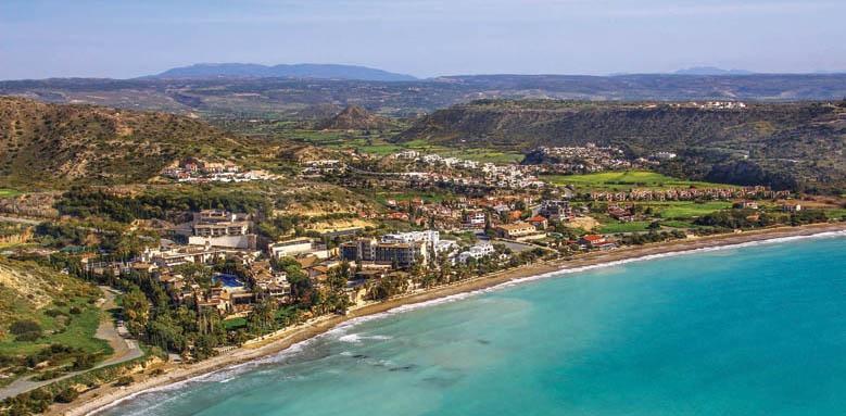 Columbia Beach Resort, aerial view