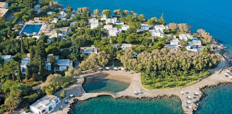 Minos Beach, aerial view