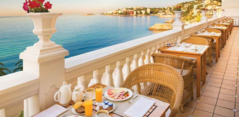 Nixe Palace, breakfast terrace