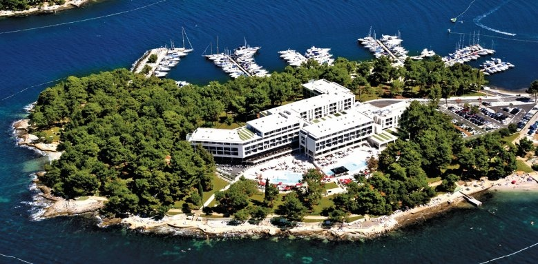 Hotel Laguna Parentium, aerial view