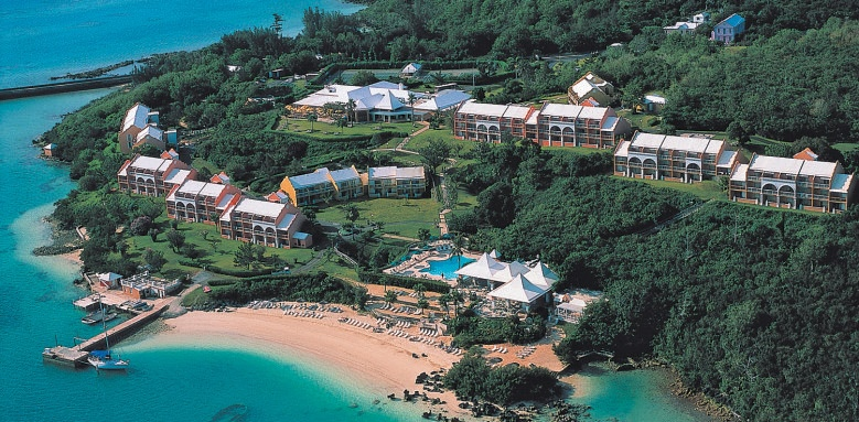 Grotto Bay Beach Resort, aerial view