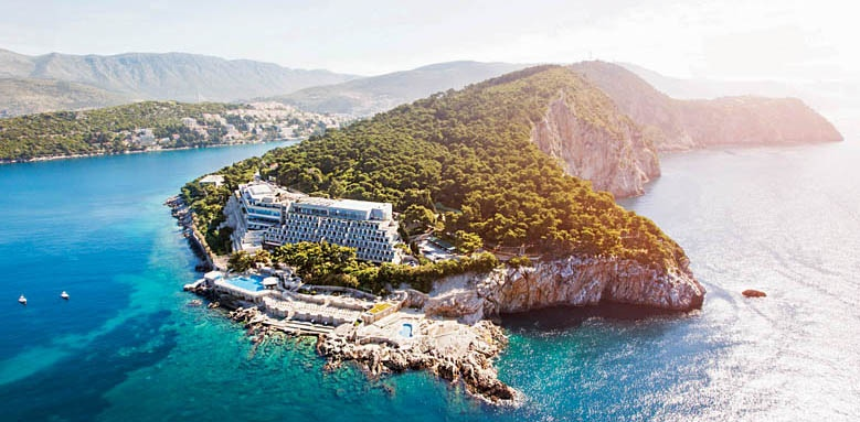 Hotel Dubrovnik Palace, aerial view