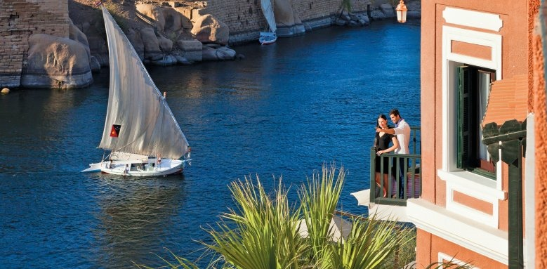 Sofitel Legend Old Cataract Aswan, couple and river