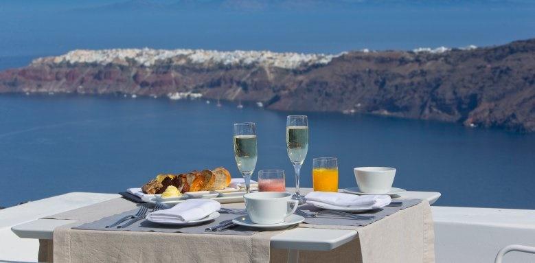 Grace Santorini, Champagne Breakfast
