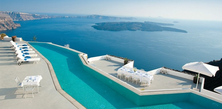 Grace Santorini, pool and caldera view