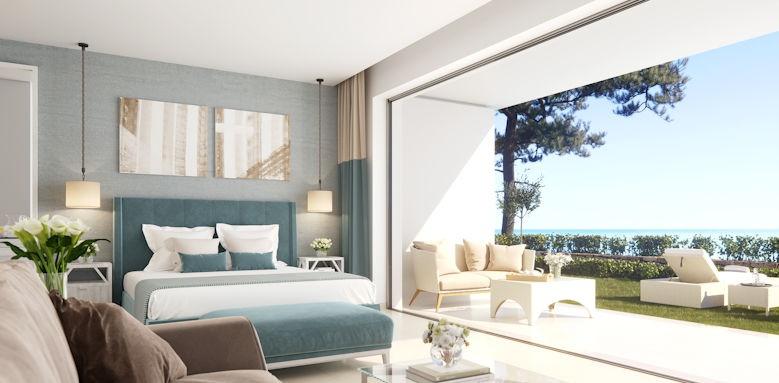 Sani club, double room private garden