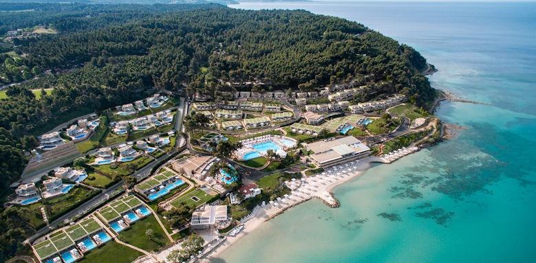 Sani club, Aerial view