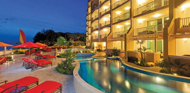 Ocean Two Resort and Residences, pool deck night