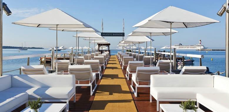 Majestic Barrire Cannes, terrace