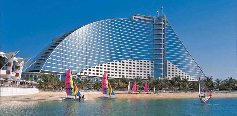 Jumeirah Beach Hotel, exterior from sea