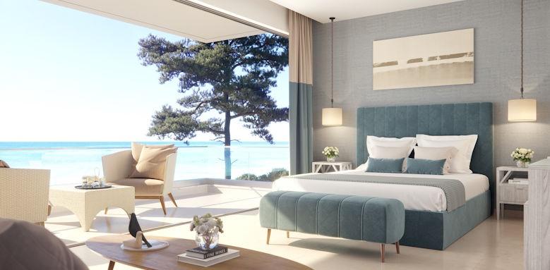 double room, sani club, sea view