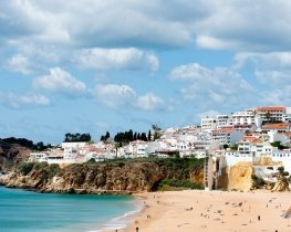 Albufeira city and beach, Algarve
