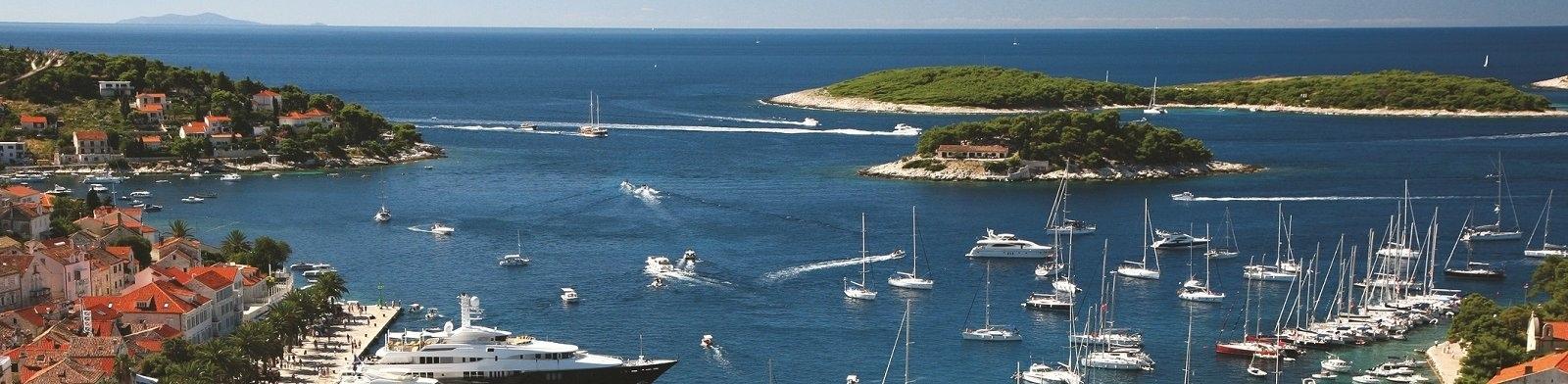 Hvar Island harbour view