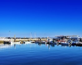 Boats in olhao harbour, Olhao