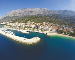 tucepi harbour, croatia
