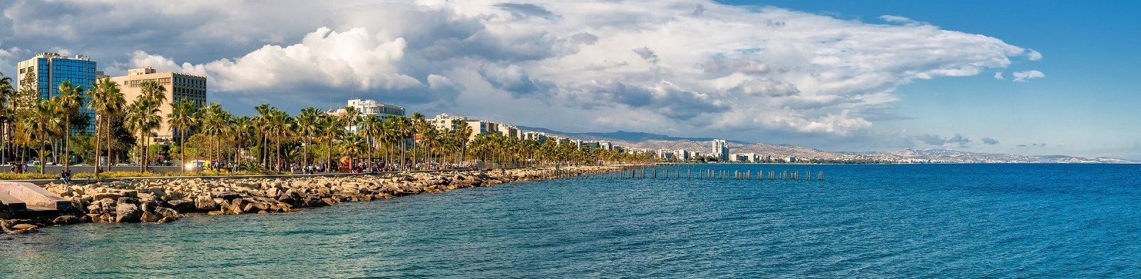 Limassol seafront view