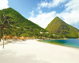 Val des Pitons beach view