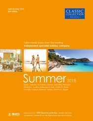 Summer 2018 holiday brochure